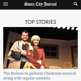 Sioux City Journal Article  Ambitious Browns doing two Christmas